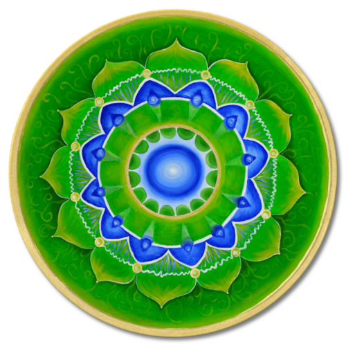 Leinwandbild Mandala Herzchakra