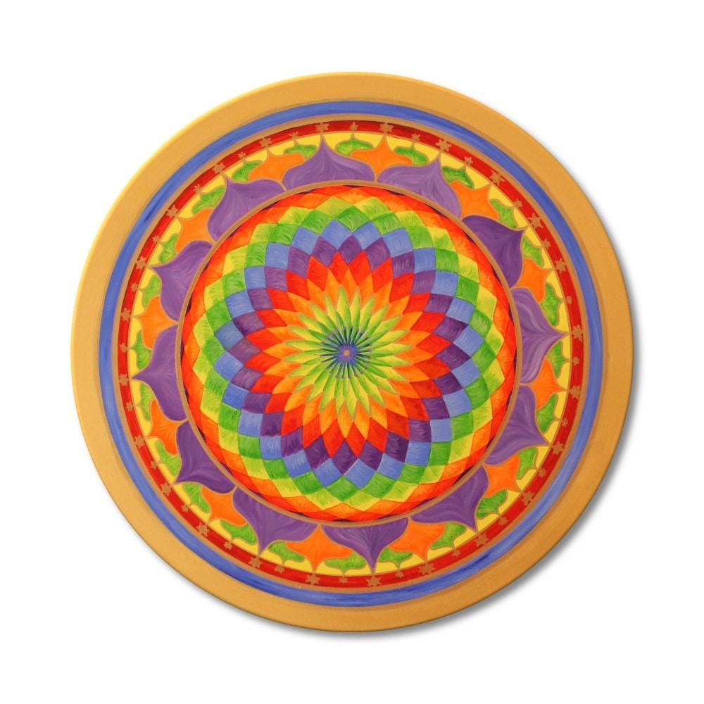 Leinwandbild Mandala Regenbogen