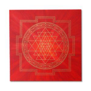Energiebilder Sri Yantra Wandbild