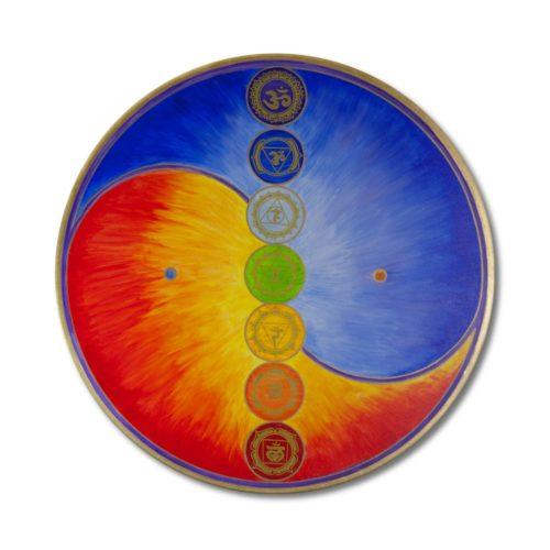 Leinwandbild Yin Yang Harmonie im Ganzen mit 7 Chakren