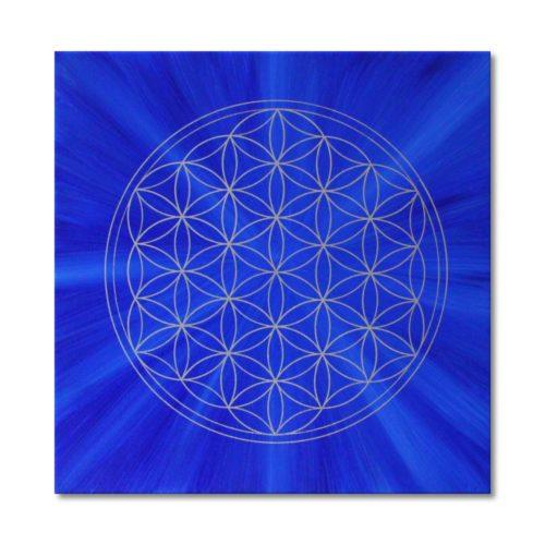 Leinwandbild Blume des Lebens Harmonie der Seele