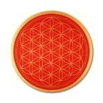 Energiebilder malen lernen Blume des Lebens rot