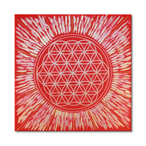 Leinwandbild Blume des Lebens Kraft der Sonne