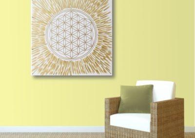 Blume des Lebens Energie Bild