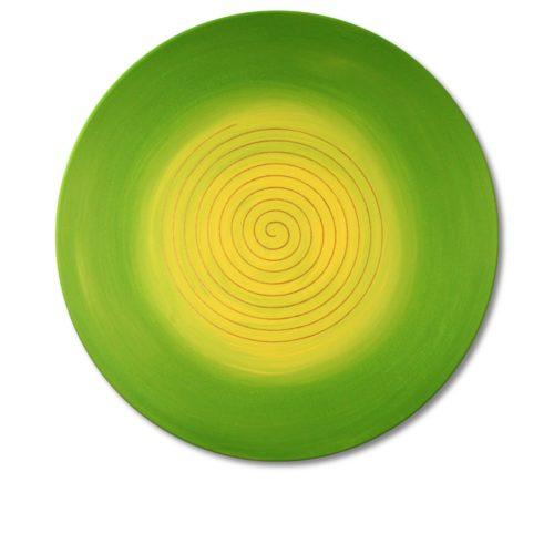 Leinwandbild Spirale Gold Frühjahrssonne