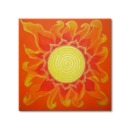 Leinwandbild Spirale Solarplexus