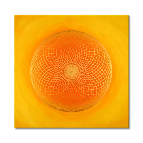 Leinwandbild Torus Sonne