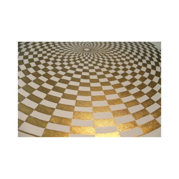 Wandbild Energiebild Pranagenerator Labyrinth der Kraft Gold_Detailbild