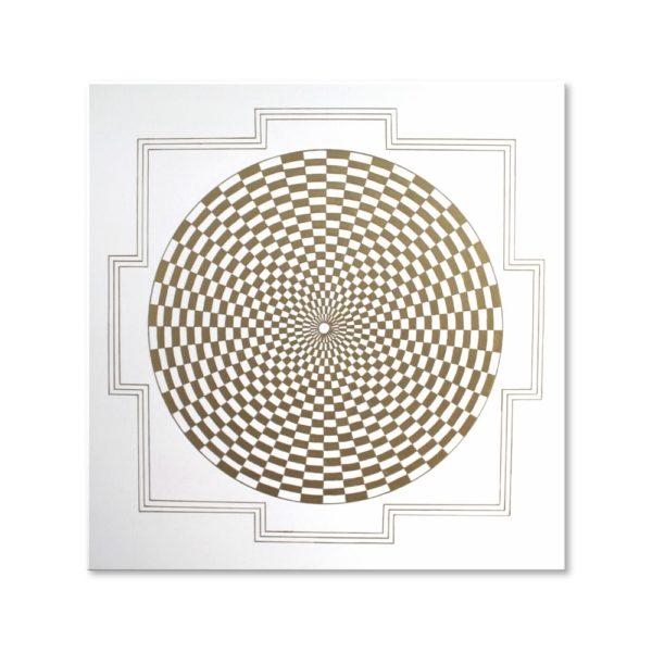 Wandbild Energiebild Pranagenerator Labyrinth der Kraft Gold_Frontalbild