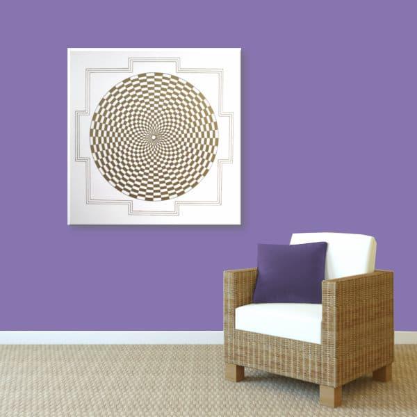 Wandbild Energiebild Pranagenerator Labyrinth der Kraft Gold_violett