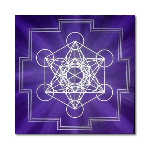 Leinwandbild Würfel des Metatron Meditation
