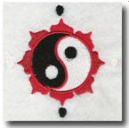 yin yang schwarz rot