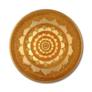 24 Karat Goldbild Gold der Erde Mandala