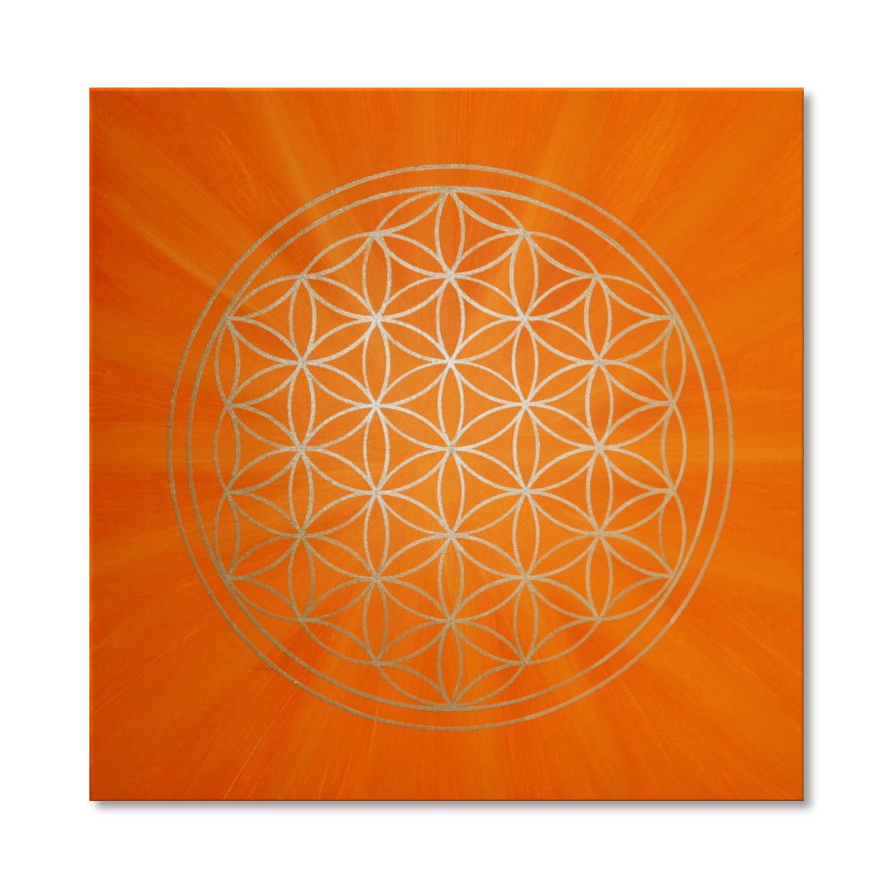 blume des lebens orange