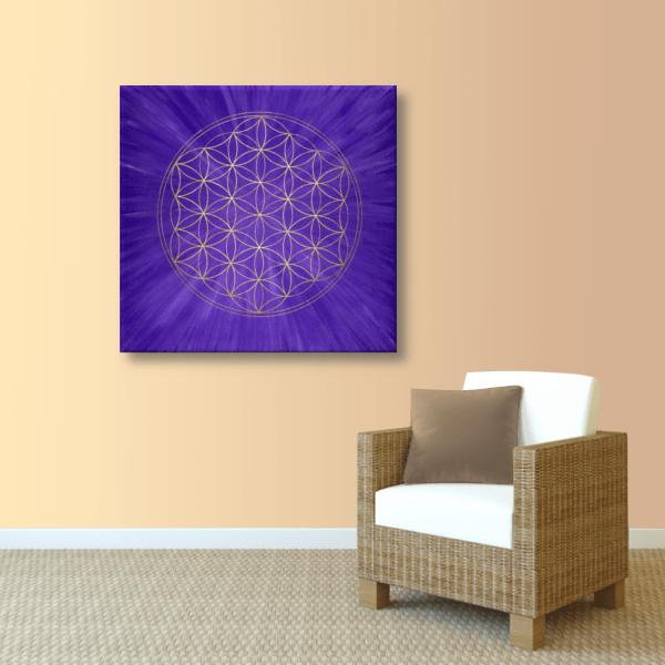 Energiebild blume des lebens intuition energiebilder handgemalt blume des lebens wandbild altavistaventures Gallery