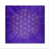 Blume des Lebens Wandbild Gold Intuition ab Größe 30cm x 30cm - Energiebild handgemalt