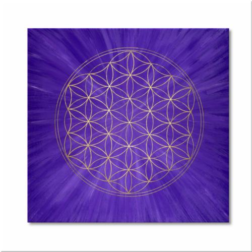 Blume des Lebens Wandbild Gold Intuition