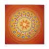 Leinwandbild Mandala OM ab Größe 50cm x 50cm - Energiebild handgemalt