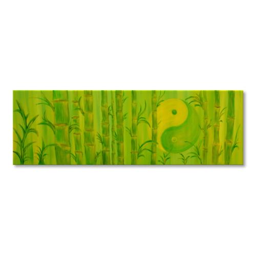 Leinwandbild Yin Yang Bambus