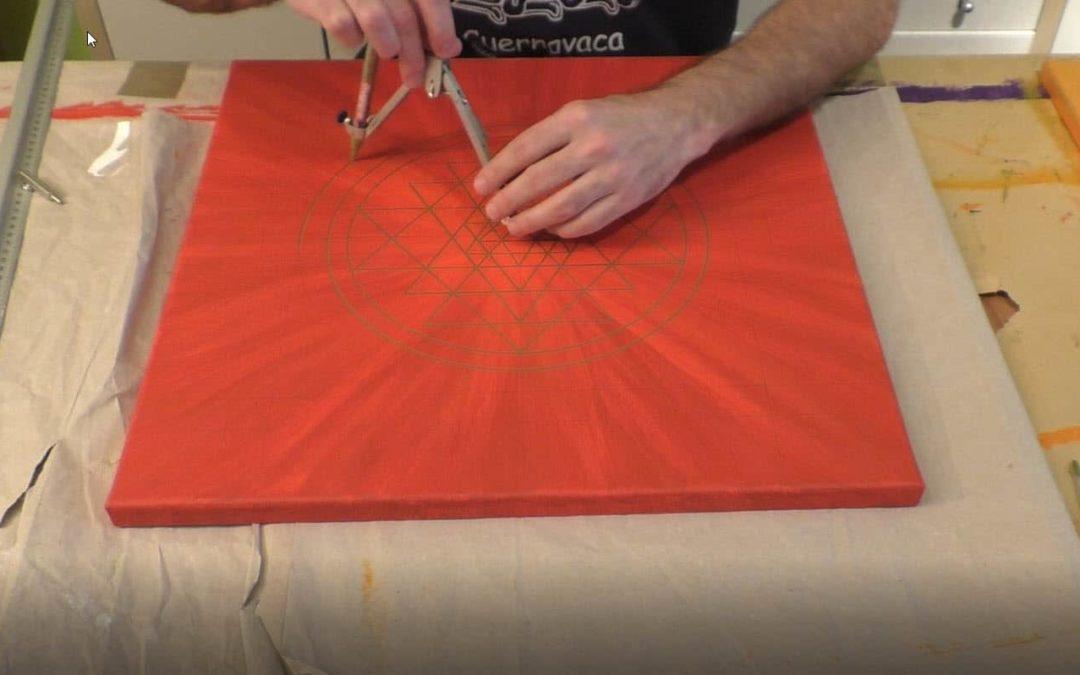 Sri Yantra selber malen mit Hilfe der heiligen Geometrie