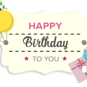 Geburtstag Geschenkgutschein