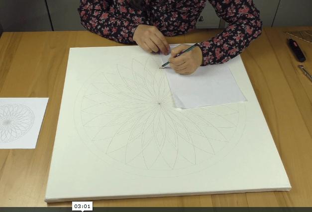 konstruieren Mandala malen lernen
