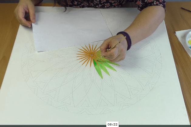 malen Mandala lernen Online