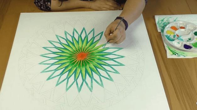 ausmalen Mandala lernen