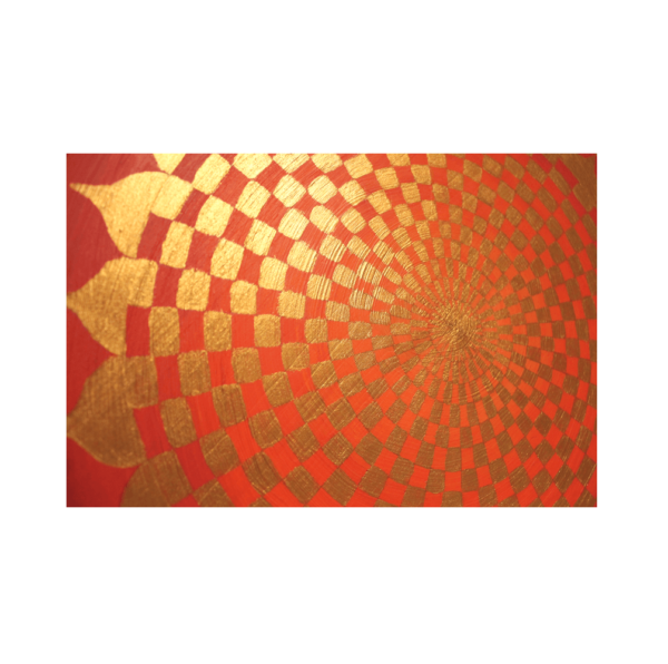Holzplatte Energiebild Pranagenerator Gold_Detailbild