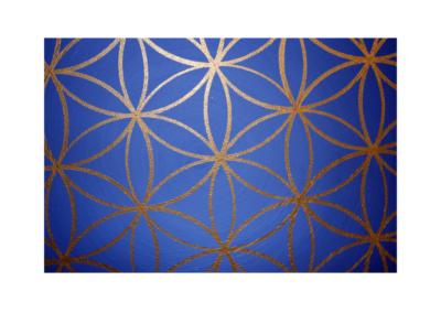 Wandbild Energiebild Blume des Lebens gold rund Evolution der Seele_Detailbild