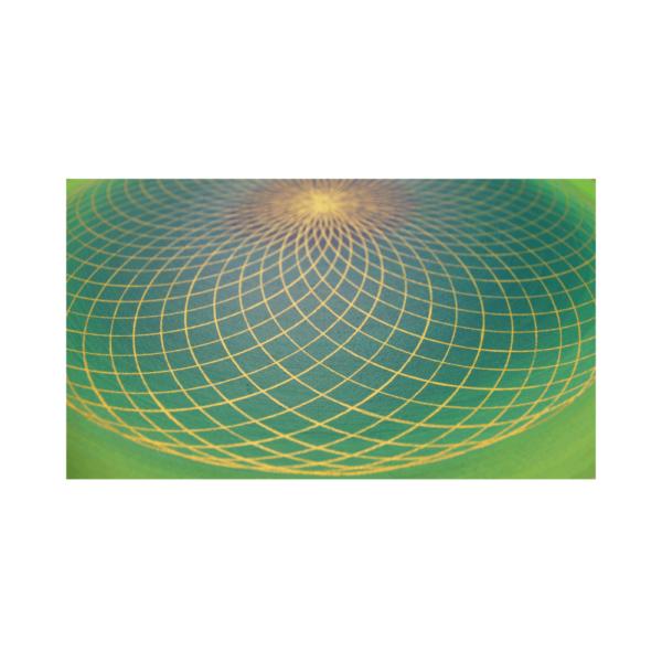 Wandbild Energiebild Energiefeld des Herzens Torus Gold grün_Detailbild