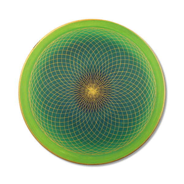 Wandbild Energiebild Energiefeld des Herzens Torus Gold grün_Frontalbild