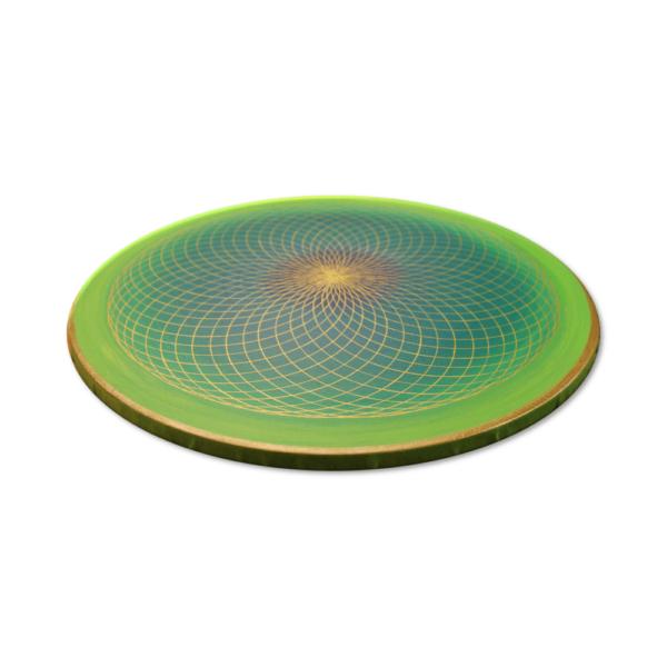 Wandbild Energiebild Energiefeld des Herzens Torus Gold grün_Profilbild