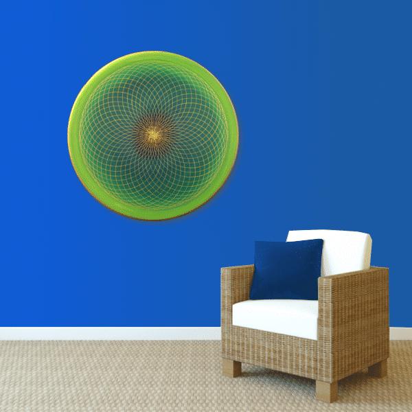 Wandbild Energiebild Energiefeld des Herzens Torus Gold grün_blau