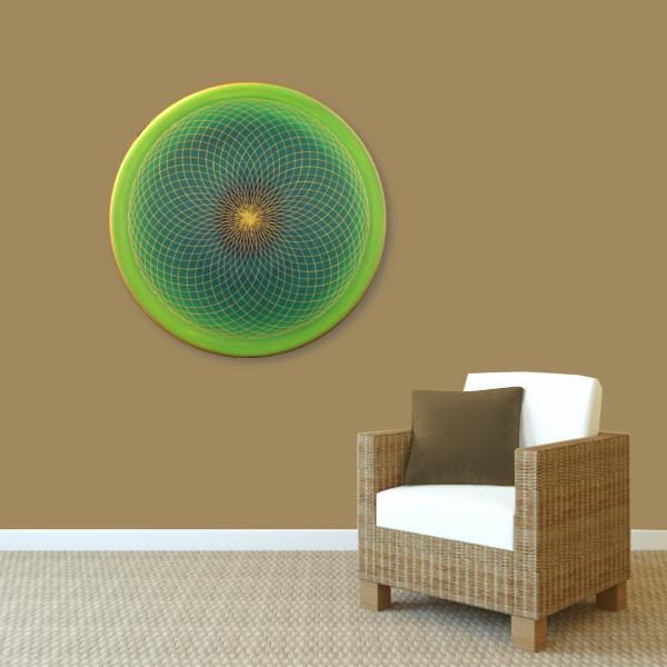 Wandbild Energiebild Energiefeld des Herzens Torus Gold grün_braun
