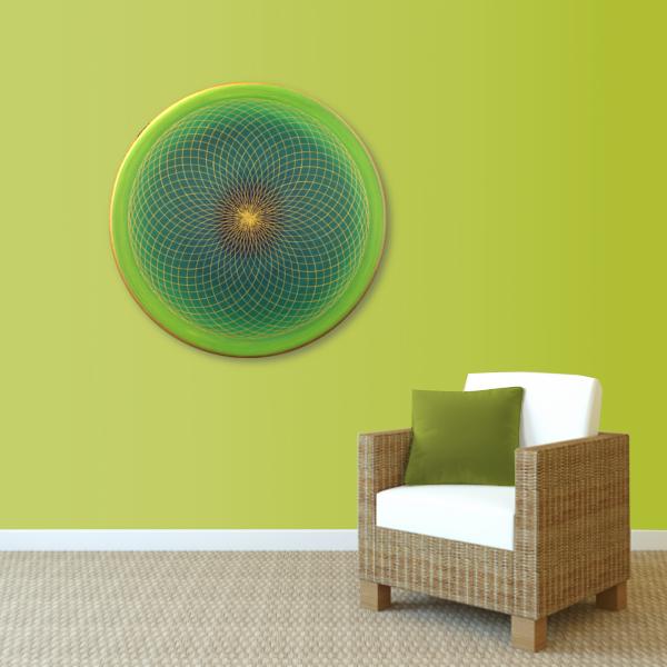 Wandbild Energiebild Energiefeld des Herzens Torus Gold grün_grün