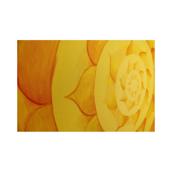 Wandbild Energiebild Lotussonne Mandala Gold_Detailbild