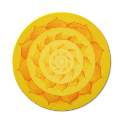 Wandbild Mandala Lotussonne