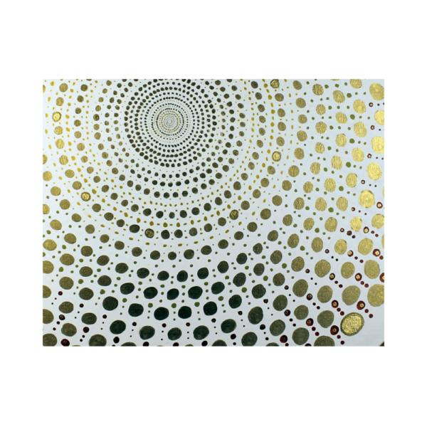 Wandbild Energiebild Mandala Element Metall gold_Detailbild