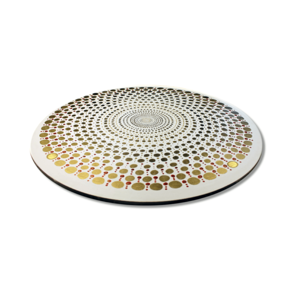 Wandbild Energiebild Mandala Element Metall gold_Profilbild
