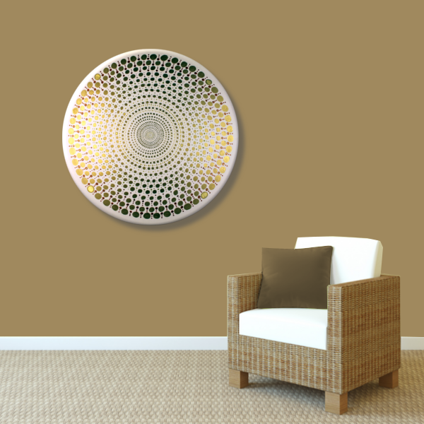 Wandbild Energiebild Mandala Element Metall gold_braun