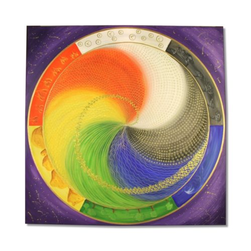 Leinwandbild Mandala Elemente des Lebens