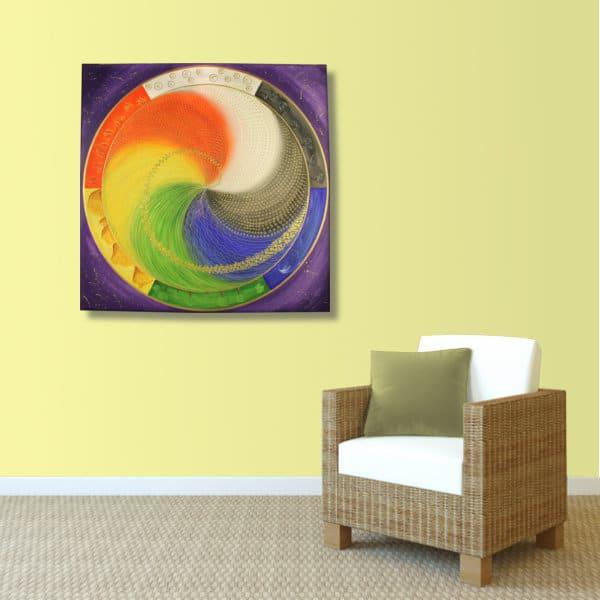 Wandbild Energiebild Mandala Elemente des Lebens_sand