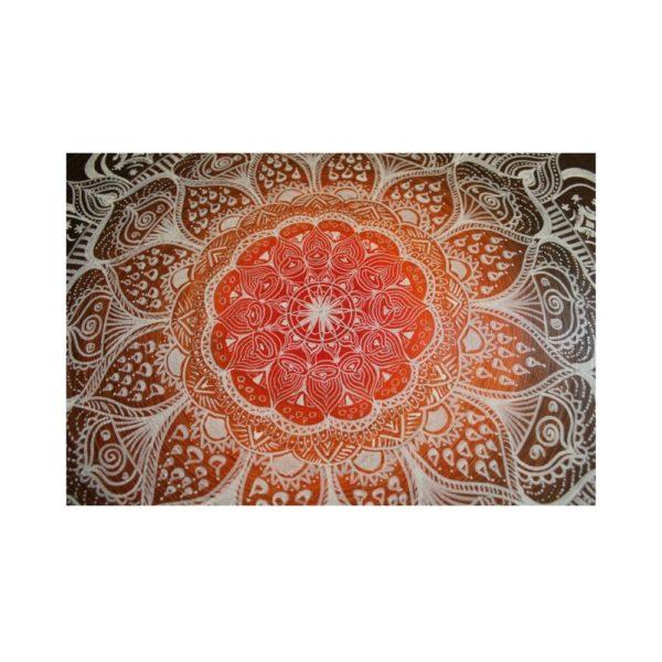 Wandbild Energiebild Mandala Gabe weiß schwarz_Detailbild