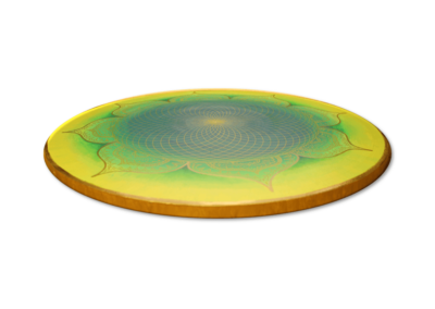 Wandbild Energiebild Mandala Herz des Orients gold grün gelb_Profilbild