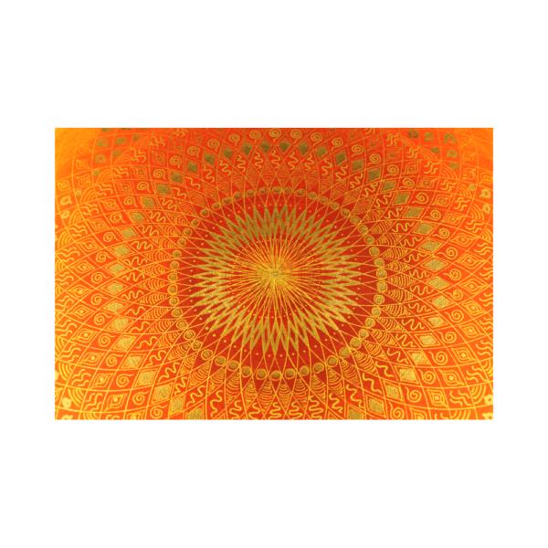 Wandbild Energiebild Mandala Muladhara Lebenskraft gold gelb_Detailbild