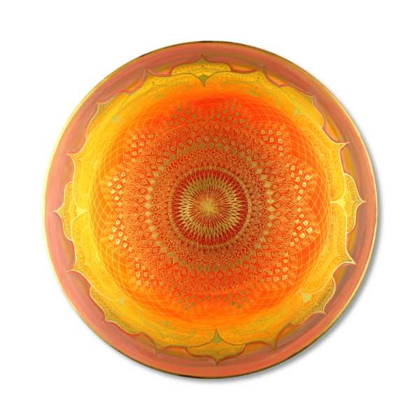 Wandbild Energiebild Mandala Muladhara Lebenskraft gold gelb_Frontalbild
