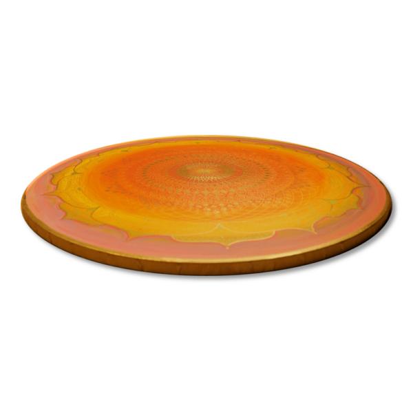 Wandbild Energiebild Mandala Muladhara Lebenskraft gold gelb_Profilbild