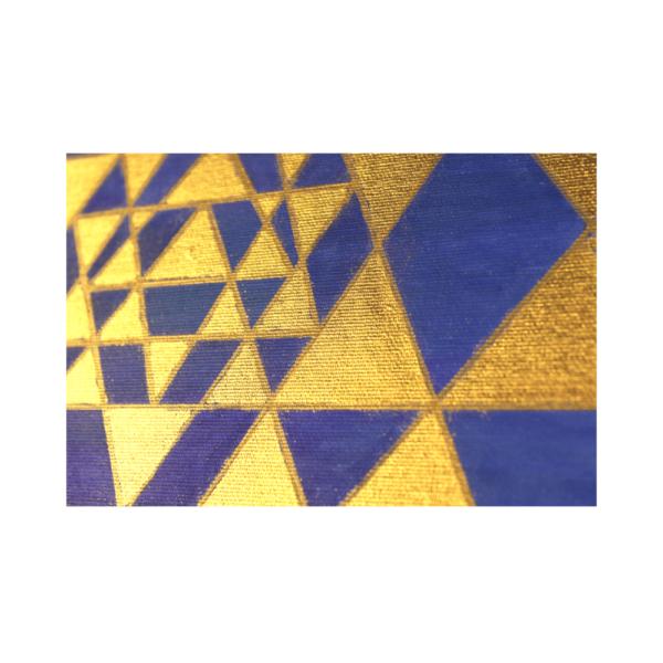 Wandbild Energiebild Sri Yantra Yantra in gold_Detailbild