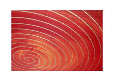 Wandbild Energiebild Weisheit und Wohlstand Sri Yantra Gold Spirale_Detailbild